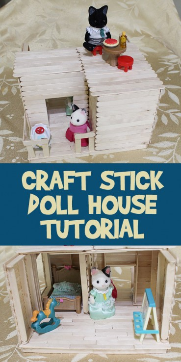 Craft Stick Doll House Tutorial