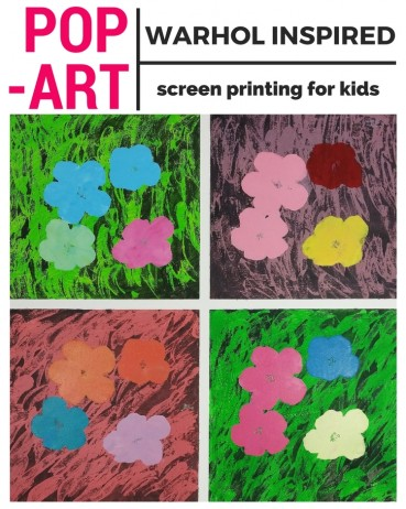 Pop Art for Kids:  Andy Warhol Inspired Screen Printing
