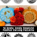 Really, Really Beautiful Pumpkin Stencils!