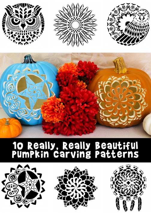 10 Really Beautiful Pumpkin Carving Patterns