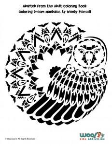Barn Owl Pumpkin Stencil