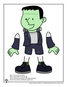 Frankenstein Paper Puppet