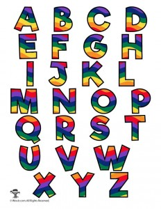photograph regarding Colorful Alphabet Letters Printable named Rainbow Alphabet Printable Letters Woo! Jr. Small children Things to do
