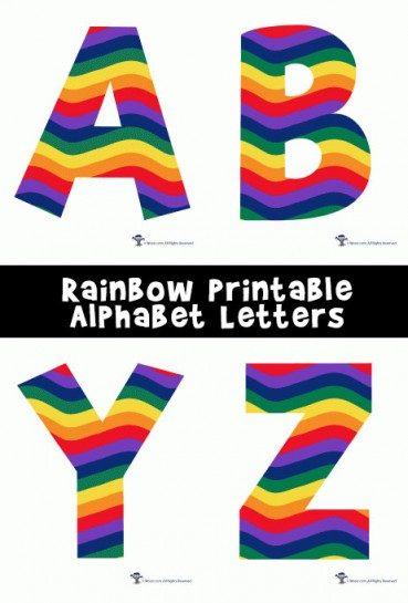 Rainbow Alphabet Printable Letters