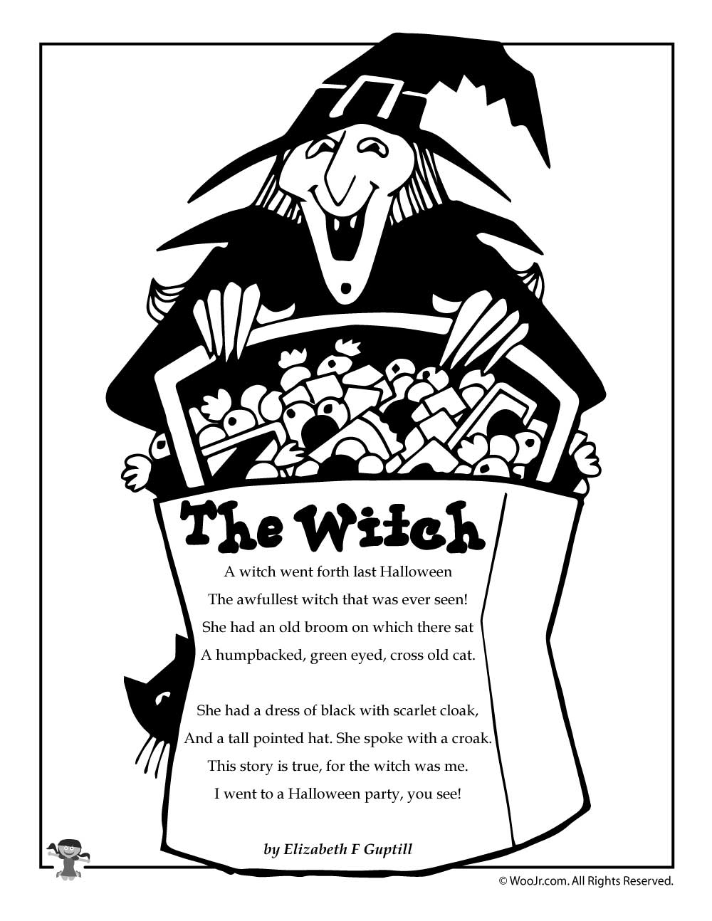 Witch Halloween Poem on Poetry For Kids Funny