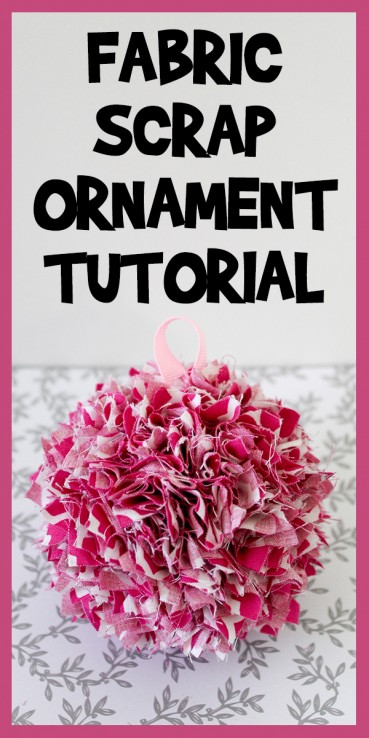 Fabric Scrap Ornament Tutorial