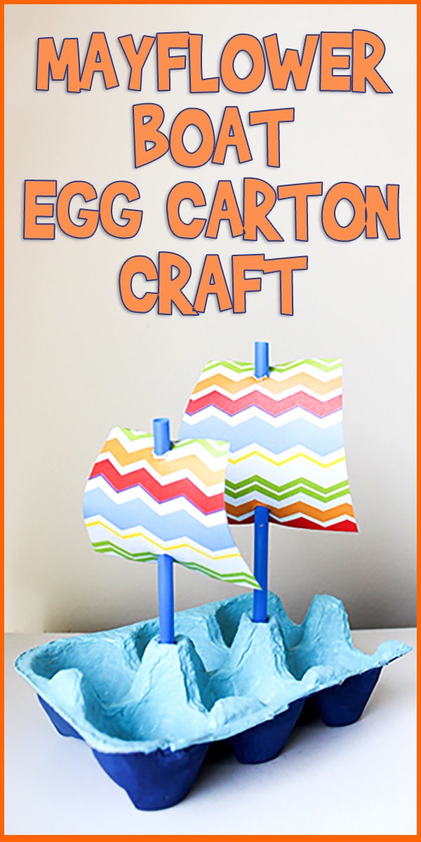 Mayflower Boat Egg Carton Craft Woo Jr Kids Activities