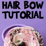 Satin Flower Hair Bow Tutorial