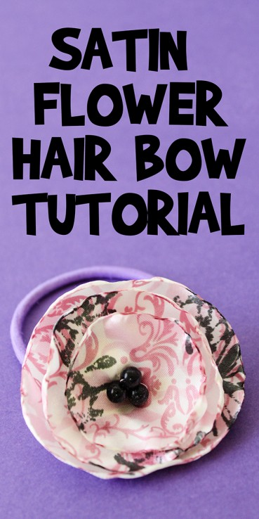 Satin Flower Hair Bow Tutorial