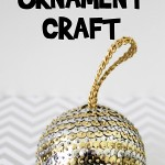 Sequin Christmas Ornament Craft