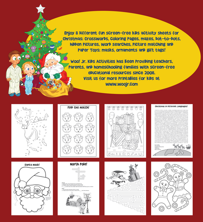 Christmas Kids Activity Book Back Cover
