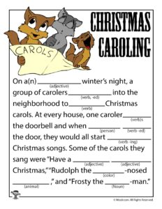 Christmas Carol Funny Fill In Story