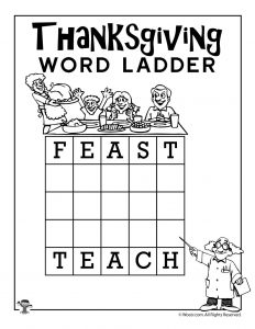 Feast - Teach Thanksgiving Word Ladder