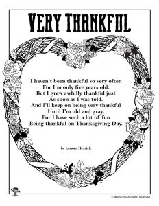 Very Thankful Poem