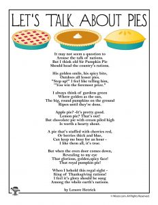 Let's Talk About Pies Poem for Kids