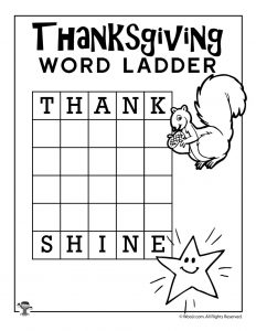 Thank - Shine Word Ladder