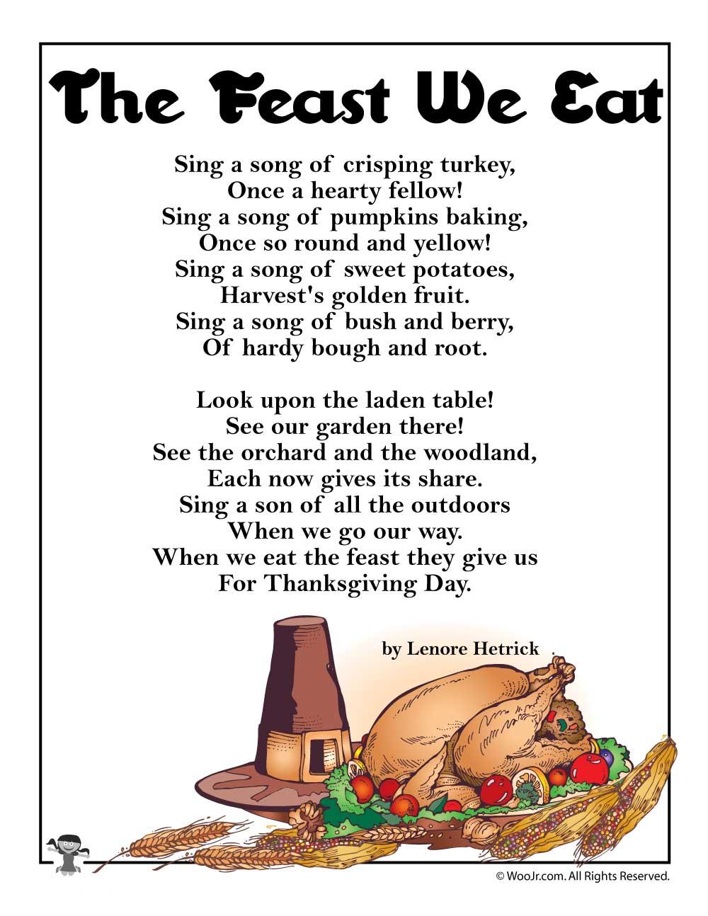 thanksgiving dinner song