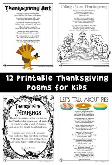 Thanksgiving Kids Poems