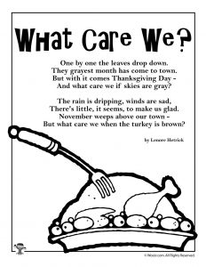 What Care We? Kids Poem