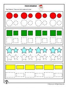 Preschool Copy and Color Shapes Worksheet