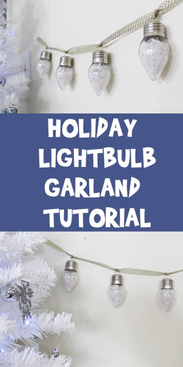 Holiday Lightbulb Garland Tutorial