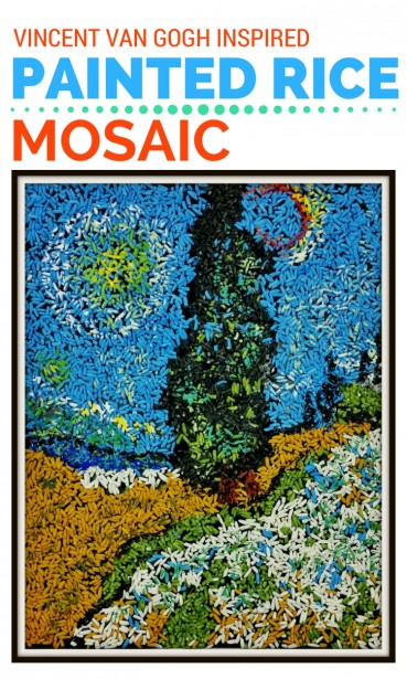 Mosaic Art Project For Kids:  Inspired By Vincent van Gogh