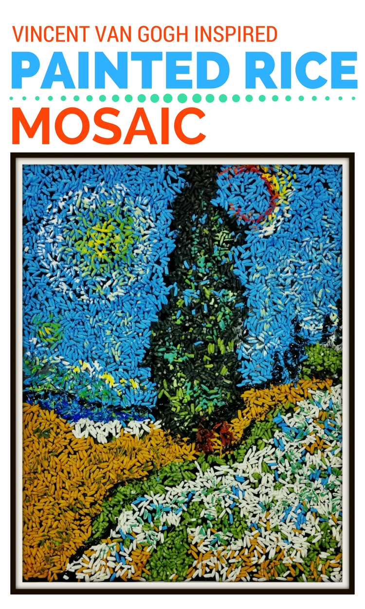 Mosaic Art Project For Kids Inspired By Vincent Van Gogh
