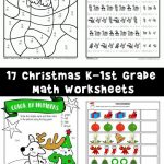Free Printable Christmas Math Worksheets: Pre K, 1st Grade & 2nd Grade