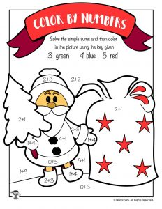 santa claus math coloring page