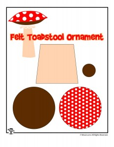 Felt Toadstool Ornament Printable Sewing Pattern
