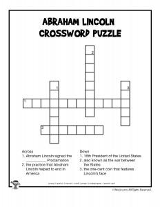 Abraham Lincoln Crossword for Kids