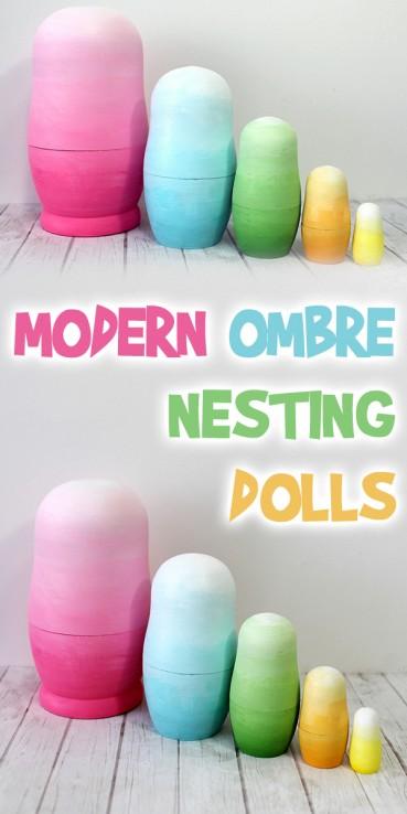 Modern Ombre Nesting Dolls