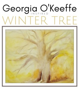 Watercolor For Kids: Georgia O'Keeffe Inspired Winter Tree