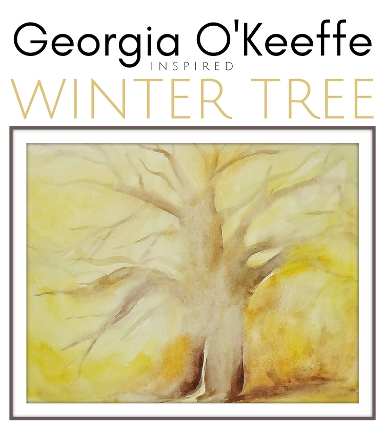 Watercolor For Kids Geia O 39 Keeffe Inspired Winter Tree Woo Jr Kids Activities