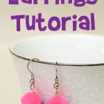 Pom Pom Earrings Tutorial