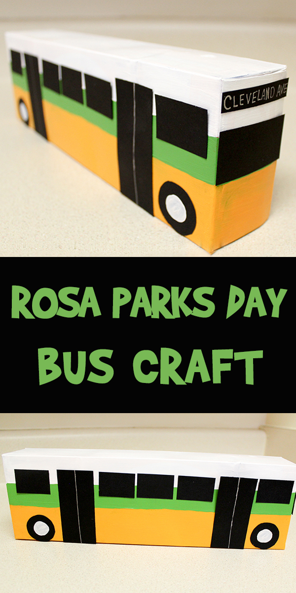 Rosa Parks Day Bus Craft Woo Jr Kids Activities