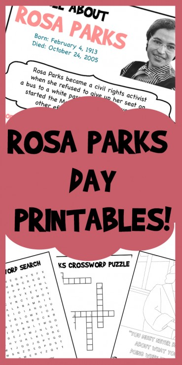 Rosa Parks Day Printables