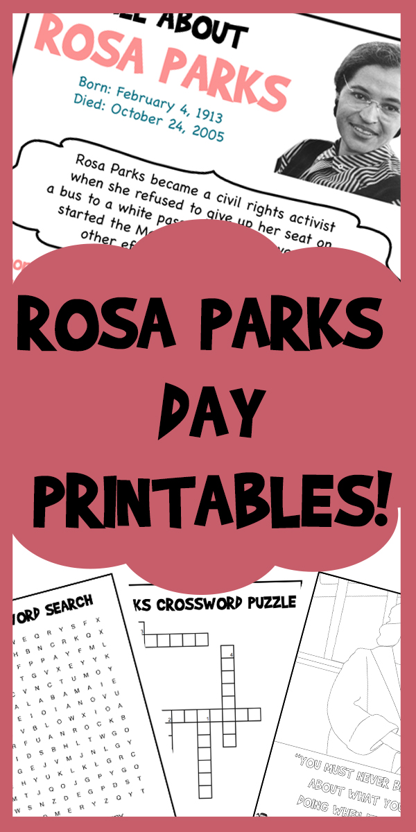 Rosa Parks Day Printables Woo
