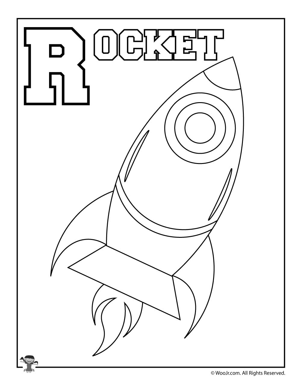 letter r is for rocket coloring page free printable r is for rocket woo jr activities 391