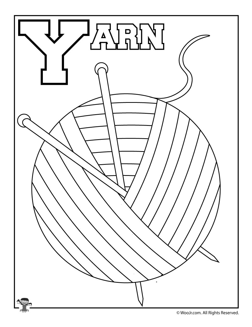 Y Is For Yarn Woo Jr Kids Activities