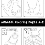 New! Alphabet Coloring Pages Set A-Z