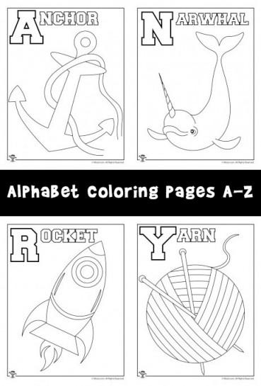 New! Alphabet Coloring Pages Set A-Z