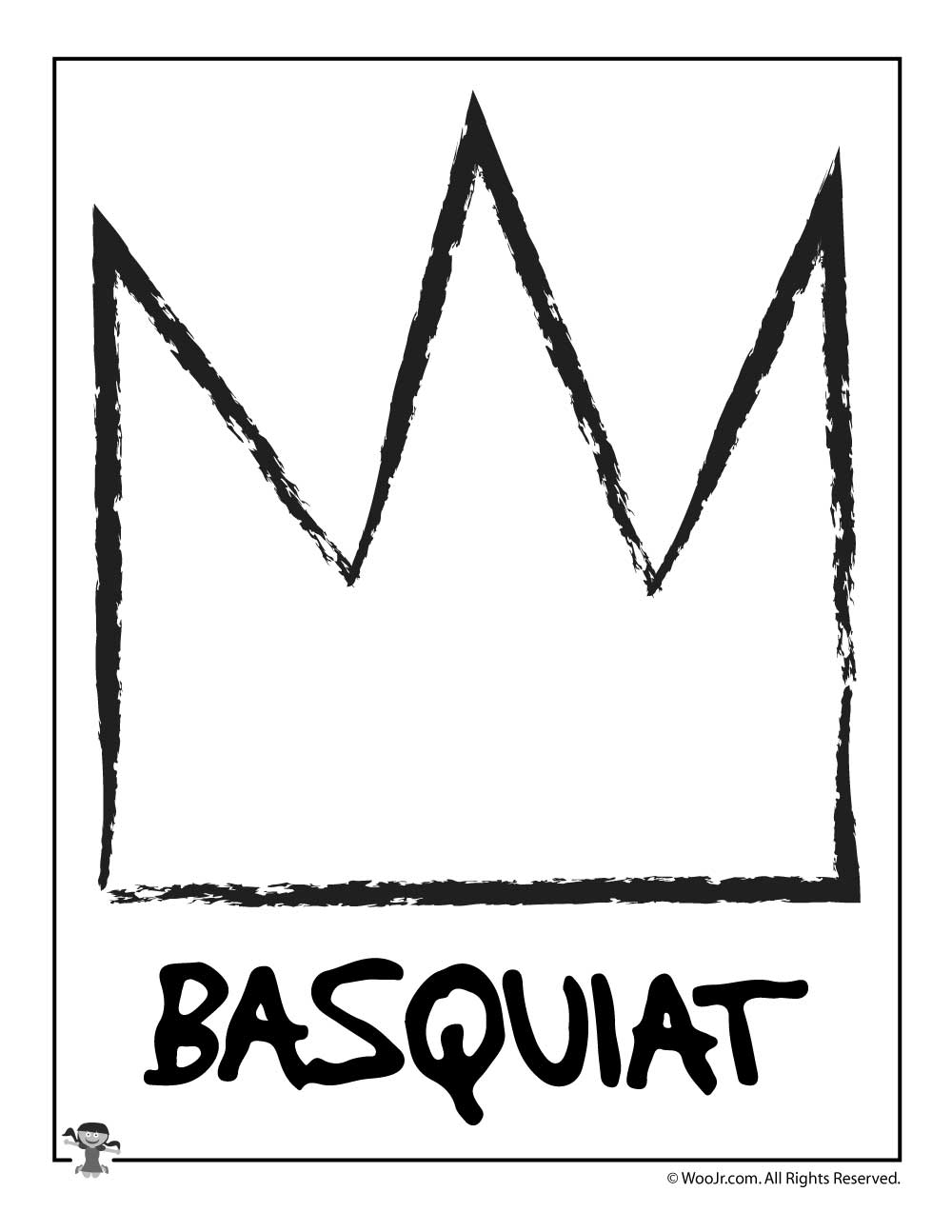 Jean Michel Basquiat Art Activity Template Woo Jr Kids