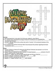 Black History Month Crossword Puzzle Worksheet
