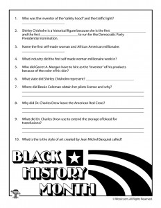 graphic about Black History Month Quiz Printable identified as Black Background Thirty day period for Young children - 6 Remarkable African American