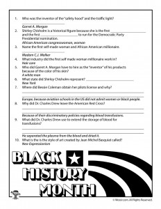 Black History Month Biographies Quiz Answer Key