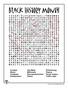 Black History Month Word Search Answer Key