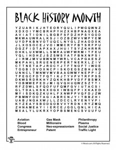 image regarding Black History Crossword Puzzle Printable titled Black Heritage Thirty day period for Children - 6 Unbelievable African American