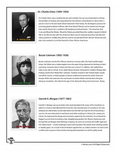 Black History Month Bios - Drew, Coleman, Morgan