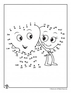 graphic regarding Printable Valentines Black and White titled Printable Valentines Working day Dot toward Dots Puzzles Woo! Jr